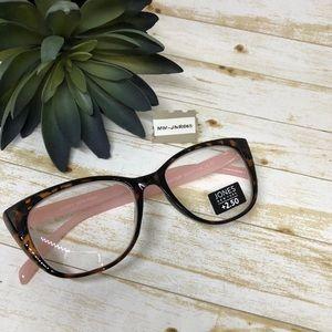 Jones New York Cat Eye Reading Glasses 2.50